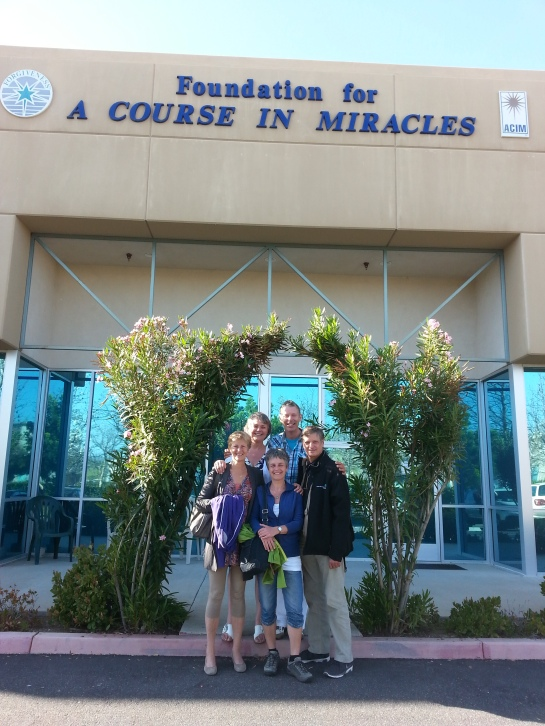 Us, in front of the Foundation For A Course in Miracles in Temecula CA.